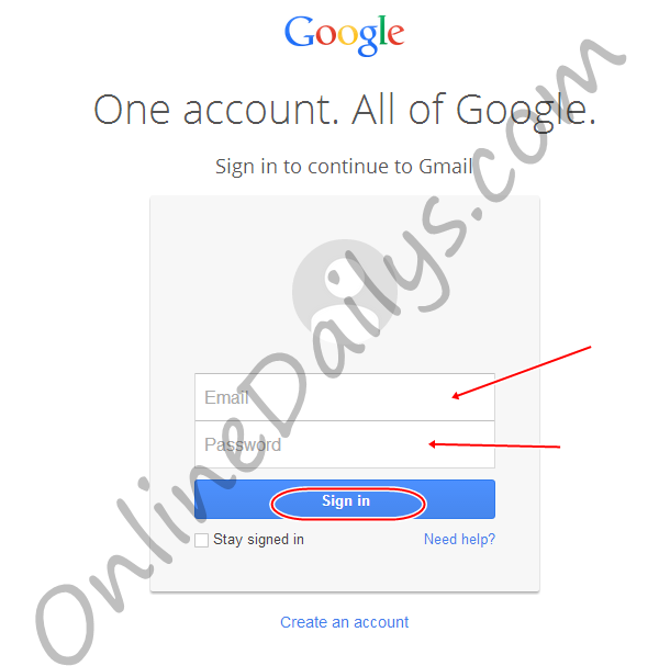 Sign up gmail account