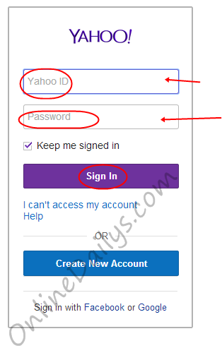 yahoo mail sign in page logo