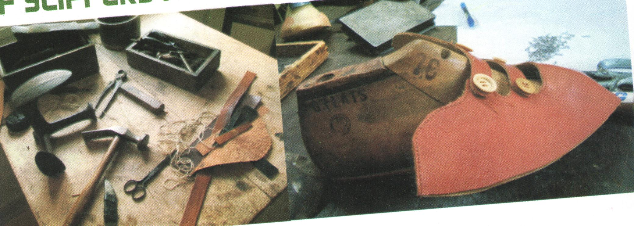 Steps in Making Pair Of Leather Slippers