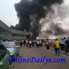 Murtala Muhammed International Airport fire outbreak photo