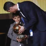 Cristiano Ronaldo's son Cris junior is a Messi fan