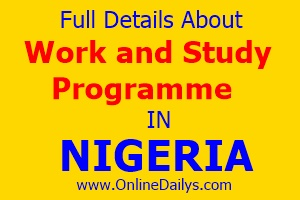 Work and Study programme in Nigeria