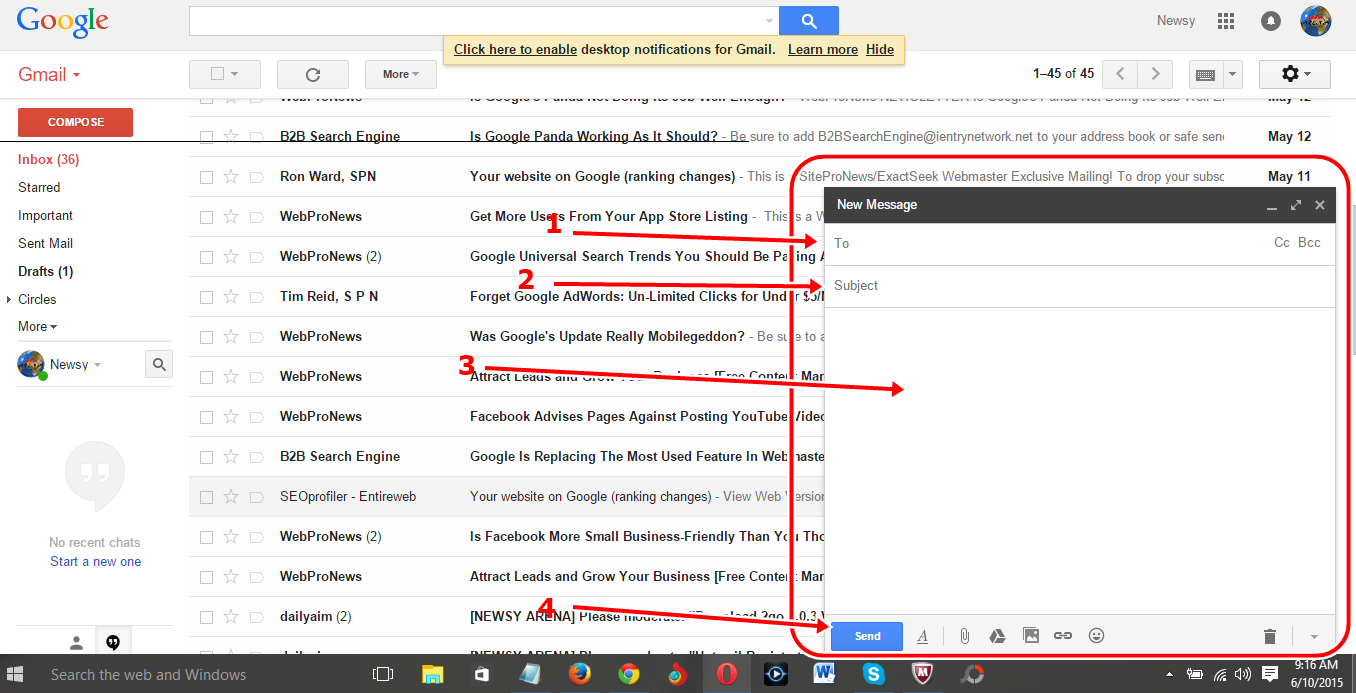 how to send multiple emails to one person in gmail