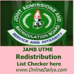 How to Check JAMB Redistribution List for 2015/2016