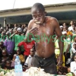 PHOTOS – Man eats to death in Food competition over N625 stake