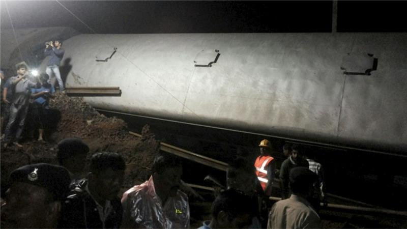 Two Passenger Trains traveling in opposite Crash in India