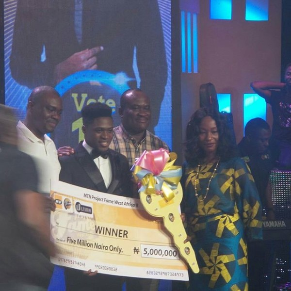 Jeffrey Akoh wins Season 8 of MTN Project Fame West Africa 2