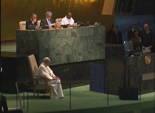 Pope Francis address UN General Assembly in New York