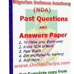 Get Full NDA Past Questions and Answers Paper here