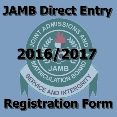 Direct Entry 2016/2017 Registration Form