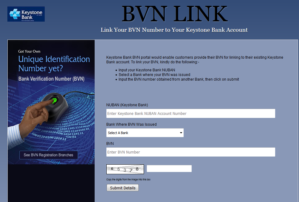 Link Your BVN Number to Your Keystone Bank Account