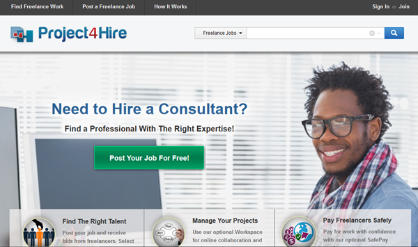 homepage: Project4hire