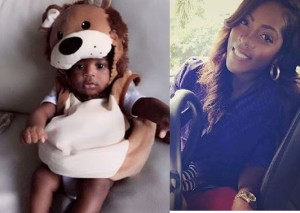 Tiwa Savage and her Baby's pics