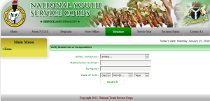 Check NYSC Batch A 2016 Senate List Online