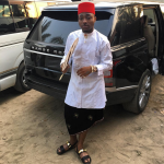 PHOTO – See Davido in Igbo Traditional Attire with His New Car