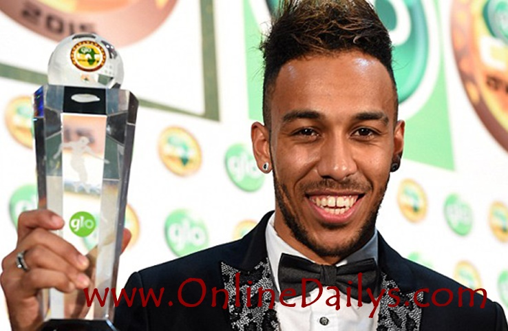 Pierre-Emerick Aubameyang won 2015 Glo CAF Award