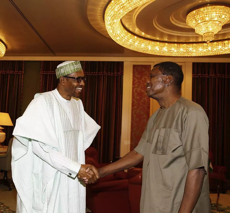 PHOTOS as Pastor Adeboye visits President Buhari 1