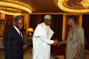 PHOTOS as Pastor Adeboye visits President Buhari 2