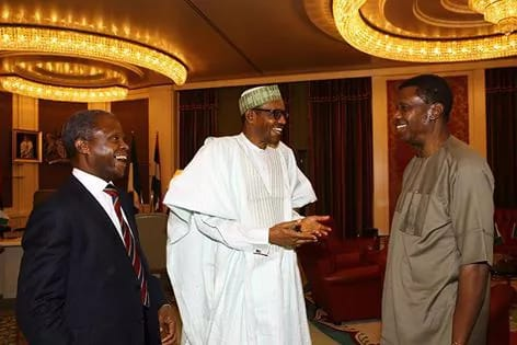 PHOTOS as Pastor Adeboye visits President Buhari 3