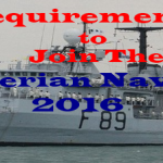 Requirements for 2016 Recruitment Form Into Nigerian Navy Force