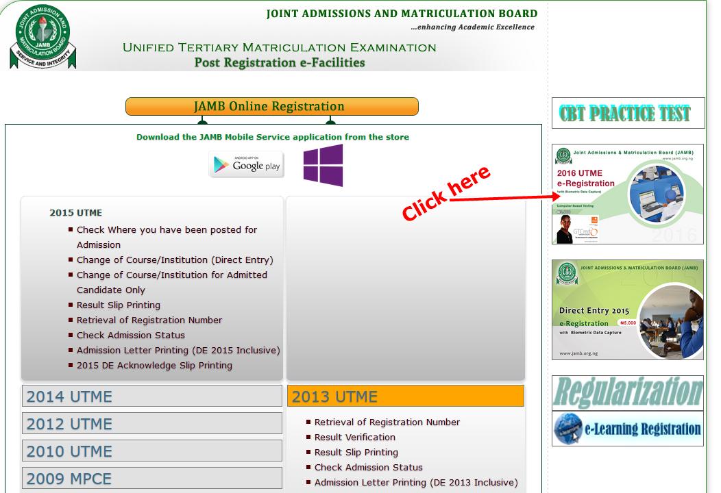 www.JAMB.org.ng Reprint Slip