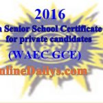 2016 WAEC GCE Online Registration Form in Progress