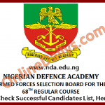 Check NDA Successful Candidates List 2016/2017 Here – www.nda.edu.ng