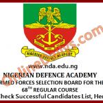 Check NDA Successful Candidates List 2016/2017 Here – www.nda.edu.ng