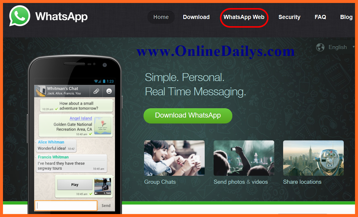 How to Use Whatsapp Online