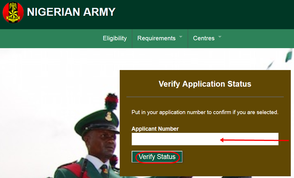 How To Check Status for Nigerian Army 2016 Successful Candidate