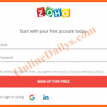 Zoho Mail account Sign up – Create Zoho Mail Registration – www.zoho.com
