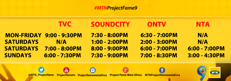 SEASON 9 MTN PROJECT FAME WEST AFRICA