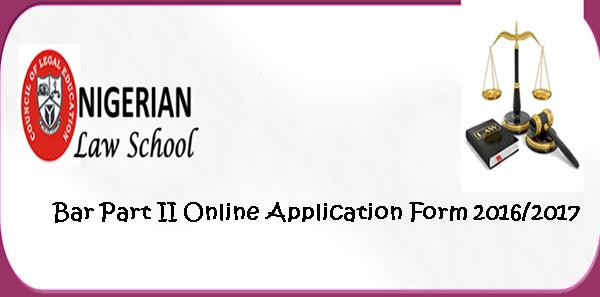 Nigerian Law School Bar Part II Online Application Form