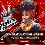 The Voice Nigeria 2016 Winner is A'rese Emokpae