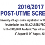 Unilag 2016/2017 Post-Utme Screening Exercise Date is out