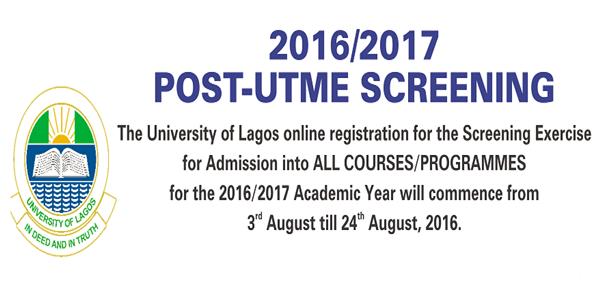 Unilag 2016/2017 Post-Utme Screening Exercise Date