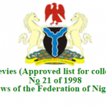 Approved Taxes and Levies Collection by the Nigerian Federal, State & Local Government