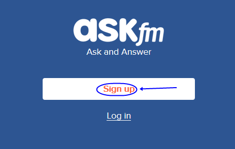 How to sign up for ask fm