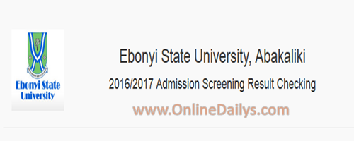 How to Check EBSU 2016/2017 Result