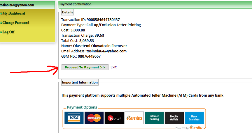 Master Card to Make NYSC Online Payment