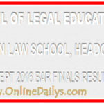 Nigerian Law School Portal | NLS Result Bar Part ii Checking 2016