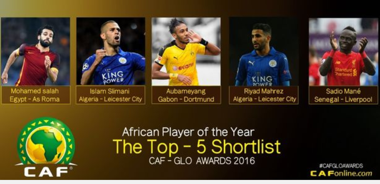 LOGO - 2016 CAF African Player Of The Year Award Nominees