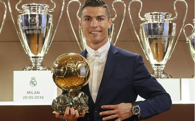 Cristiano Ronaldo Wins Ballon d'or 2016 Award