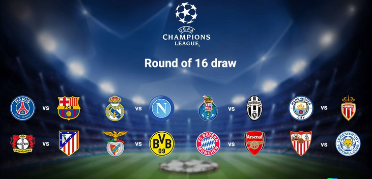 Champions league round of 16 draws arsenal draws bayern munich