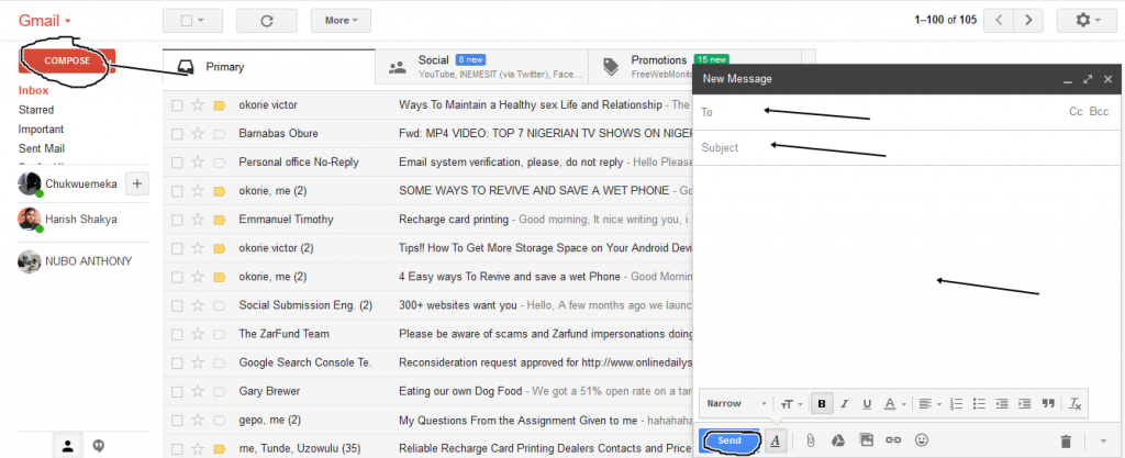 Image on How to Compose Message on Gmail account