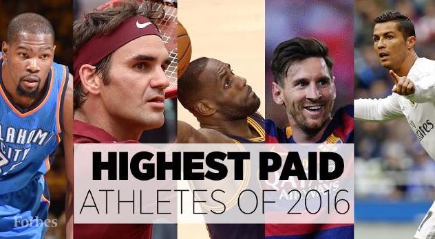Forbes 2016 World's Highest-Earning Sportsman
