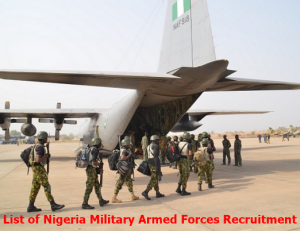 Logo: List of Nigeria Military Armed Forces Recruitment