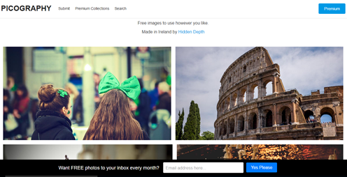 Homepage of PICOGRAPHY