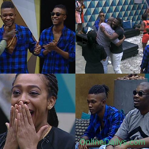 Don Jazzy with DNA Twins visits Big Brother Naija Housemates