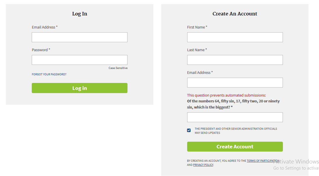 illustration image on How to Create The White House Petition Account